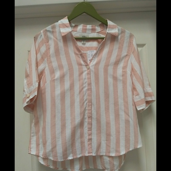 66ea9527c781a7 J. Crew Tops - J.Crew Short-sleeve button-up shirt in